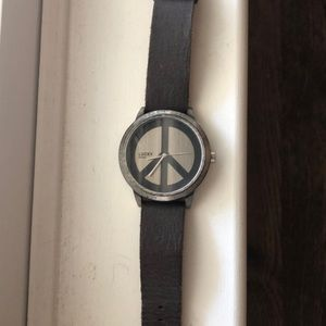 Genuine leather Lucky Brand watch